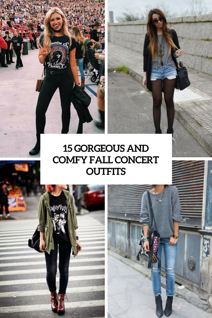 gorgeous and comfy fall concert outfits cover