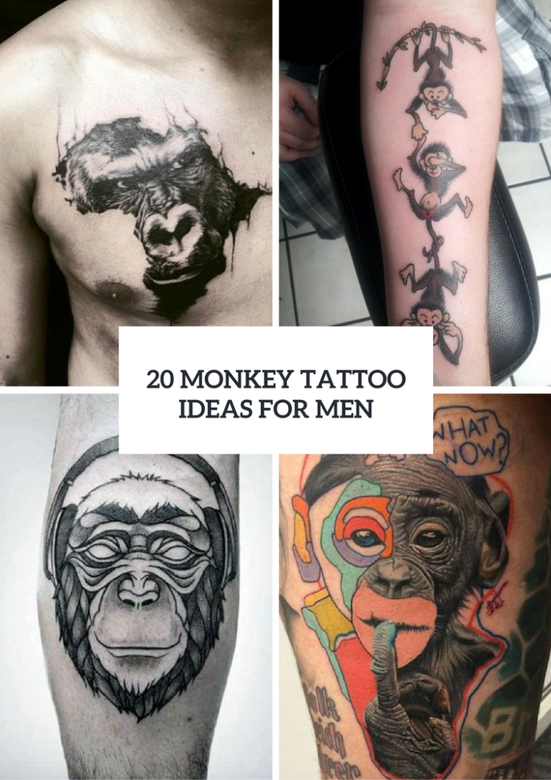 Monkey Tattoo Design Ideas For Men