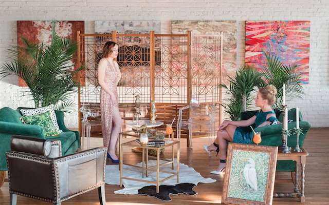 how to throw a mid-century welcome party
