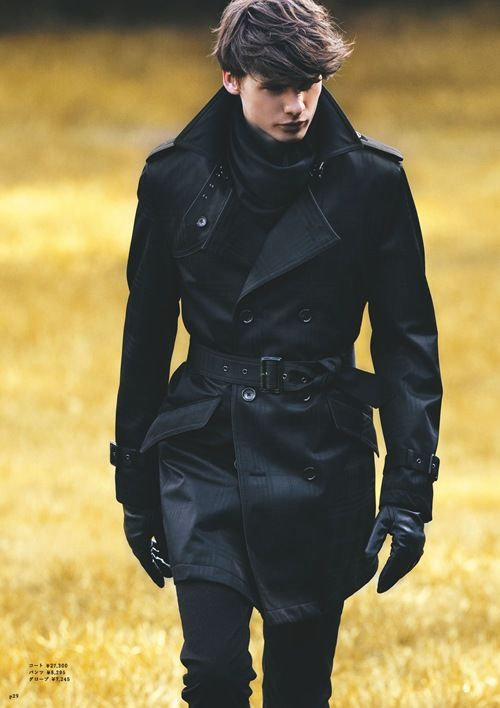 a black trench coat is classics for any man, it's timeless and chic