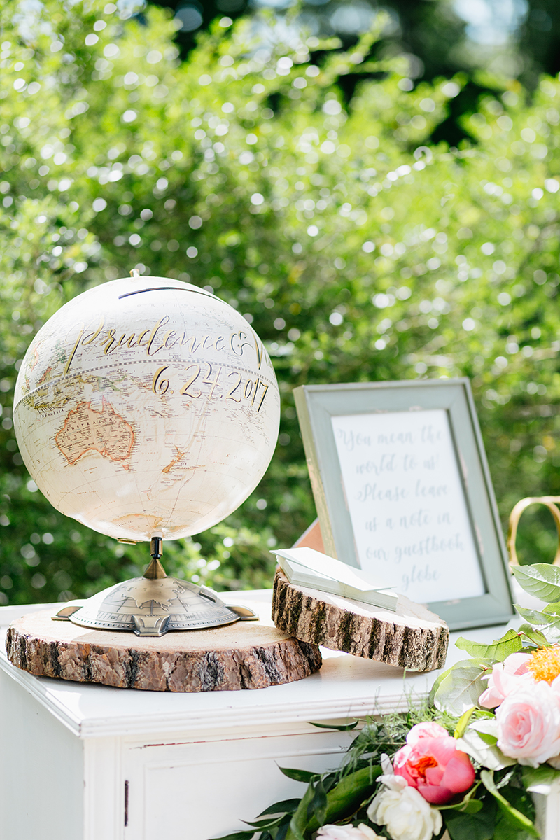 unique guest book ideas - photo by Emily Wren Photography http://ruffledblog.com/bright-beautiful-summer-wedding-with-geometric-accents
