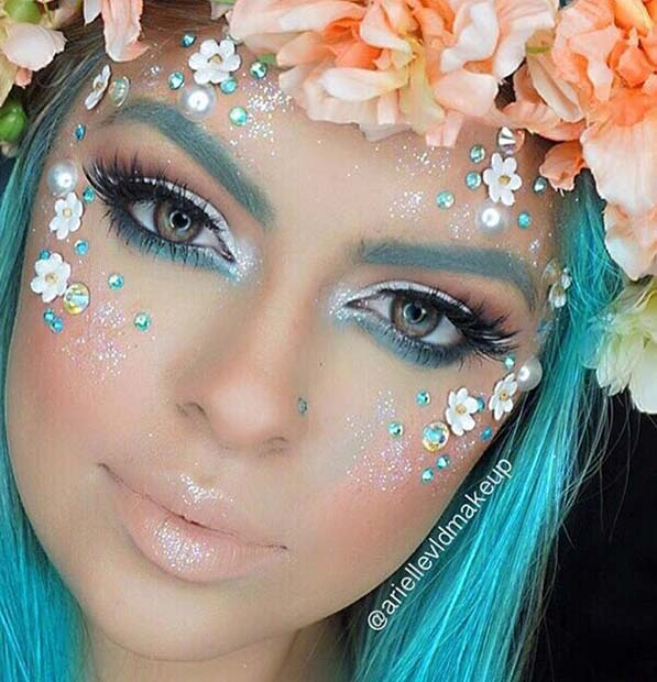 Flower Fairy Makeup for Cute Halloween Makeup Ideas