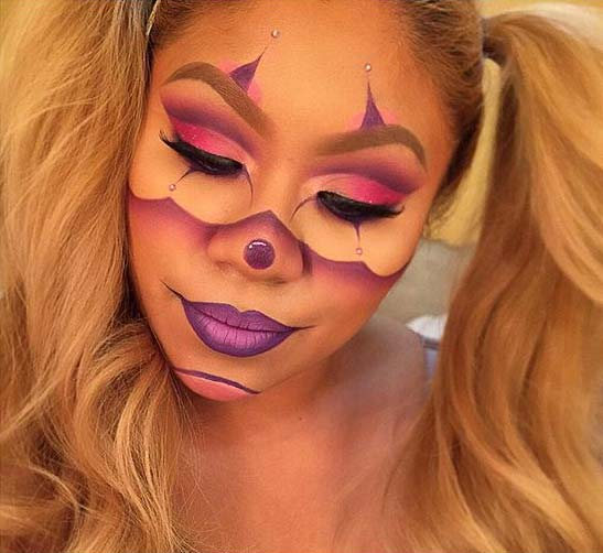 Cute Clown Makeup for Cute Halloween Makeup Ideas