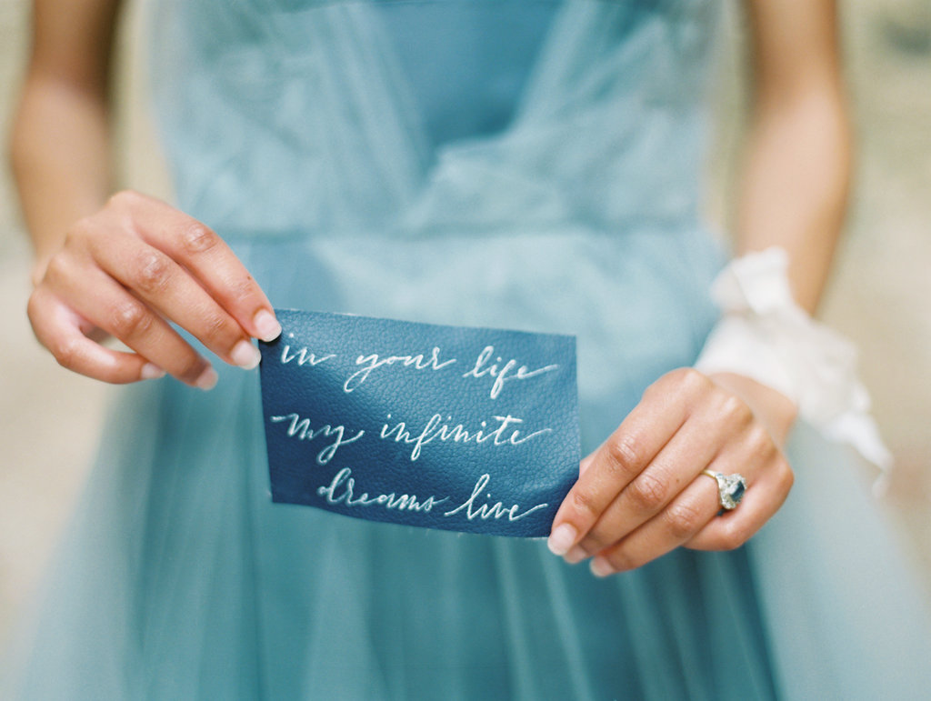blue paper goods - photo by Charla Storey http://ruffledblog.com/architectural-san-antonio-mission-wedding-inspiration