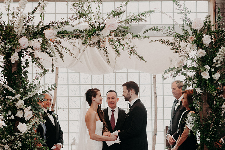 modern romantic weddings - photo by Scarlet ONeill http://ruffledblog.com/industrial-space-meets-enchanted-forest-wedding