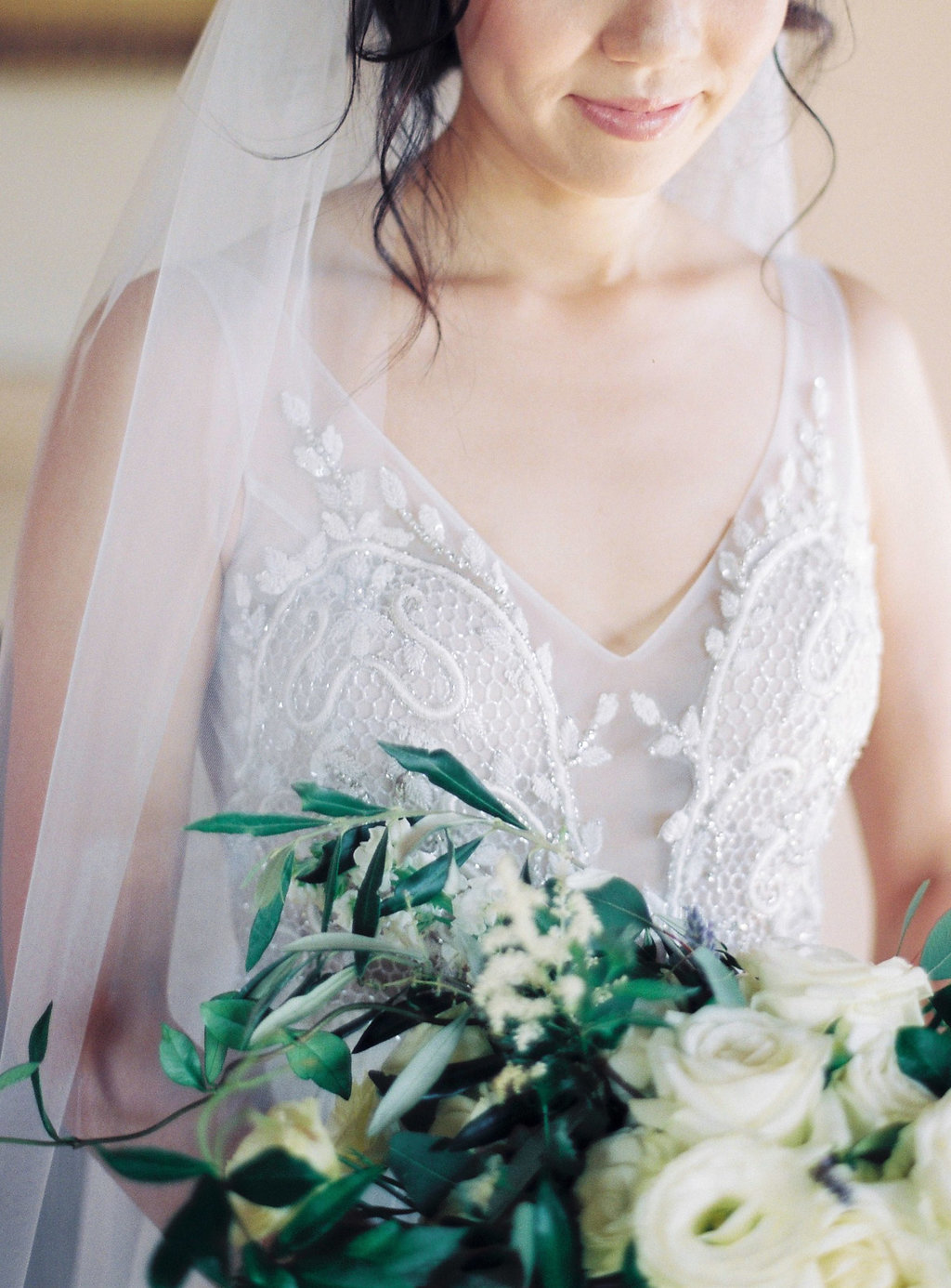 embellished wedding gowns - photo by Katie Grant Photography http://ruffledblog.com/classically-beautiful-intimate-wedding-in-tuscany