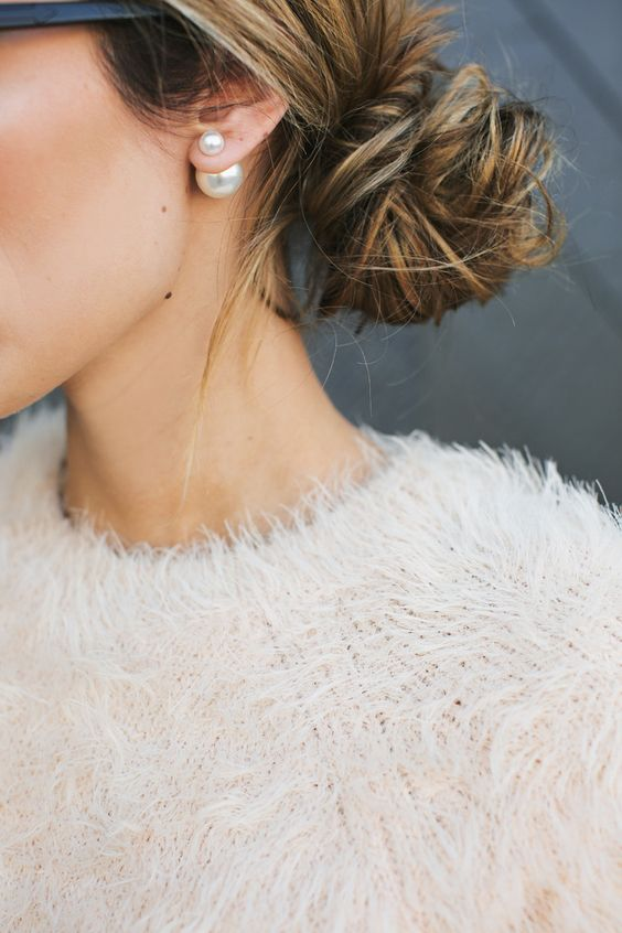large pearl studs aren't only timeless, they are a hot trend right now