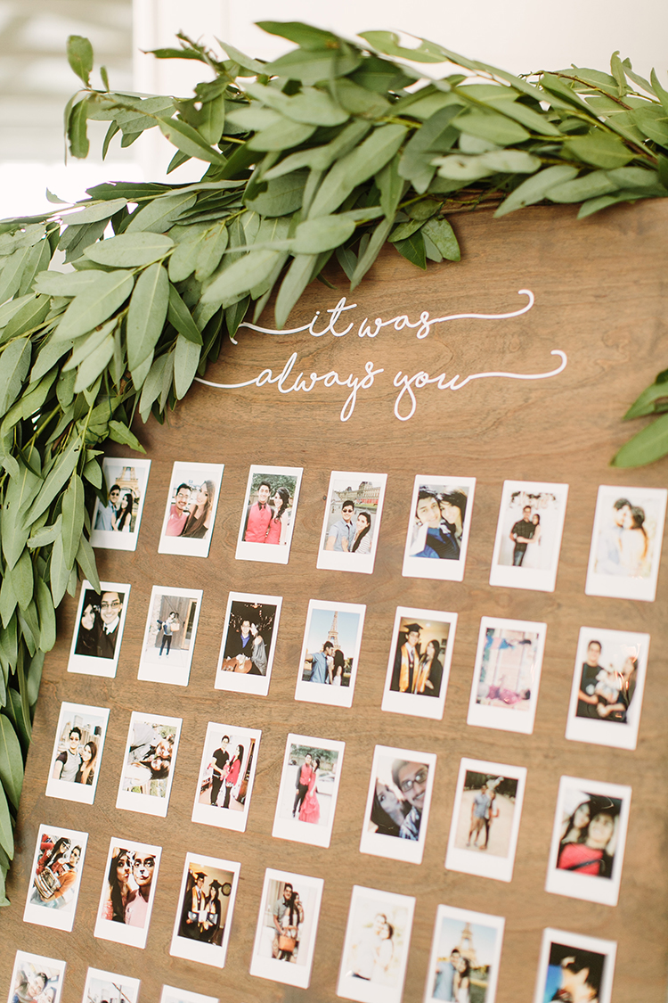 cute wedding ideas with polaroids - photo by Mustard Seed Photography http://ruffledblog.com/modern-farmhouse-wedding-with-organic-details