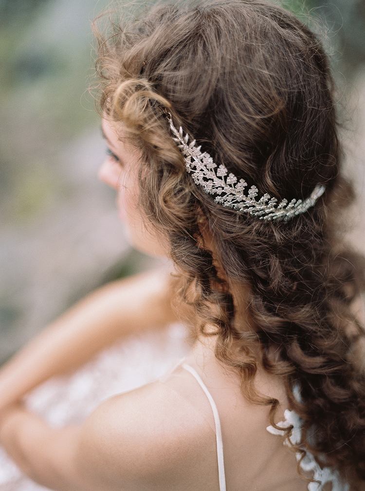 silver bridal hair accessories - photo by Photographs by Czar Goss http://ruffledblog.com/romantic-bridal-inspiration-in-great-falls-virginia