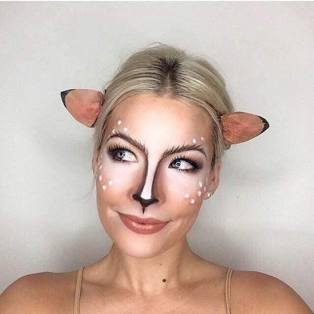 Cute Deer Makeup for Cute Halloween Makeup Ideas