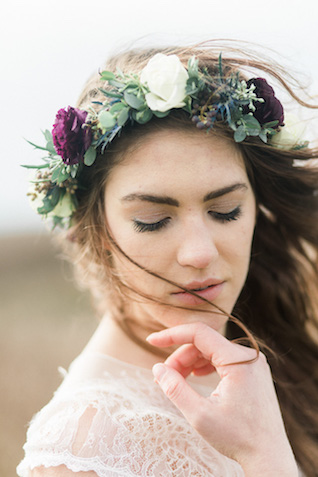 Thistle and succulent flower crown | Georgina Ruth Photography