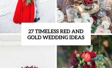 timeless red and gold wedding ideas cover