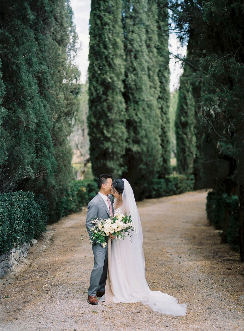 Tuscan wedding portraits - photo by Katie Grant Photography http://ruffledblog.com/classically-beautiful-intimate-wedding-in-tuscany