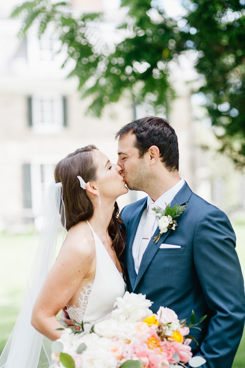 wedding portraits - photo by Emily Wren Photography http://ruffledblog.com/bright-beautiful-summer-wedding-with-geometric-accents