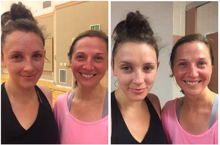 CliniqueFIT Post-Workout Neutralizing Face Powder - Before and After
