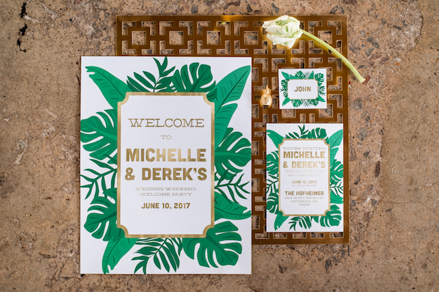 Welcome party signs