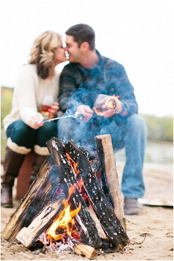 make a campfire and some s'mores, nothing is cozier and cooler than that