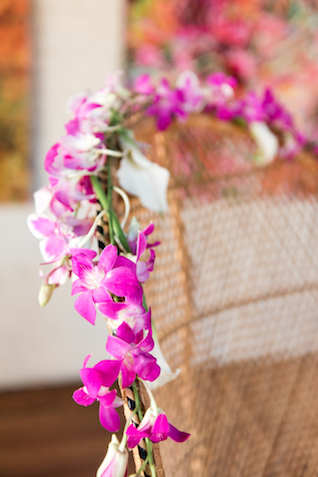 Orchid chair garland