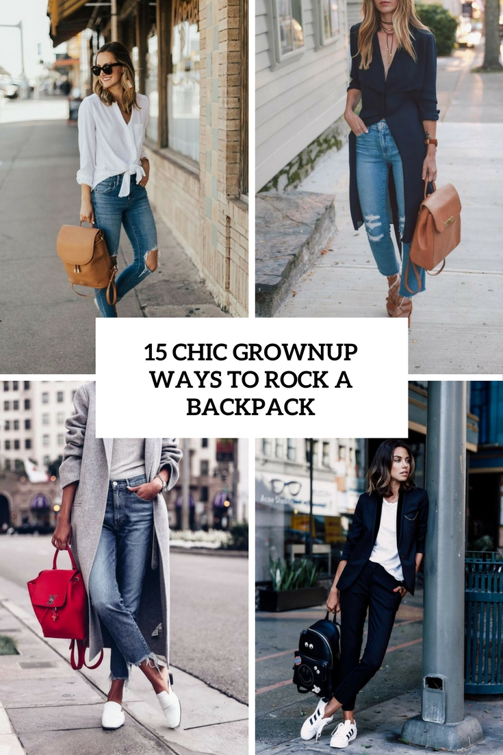chic grownup ways to rock a backpack cover