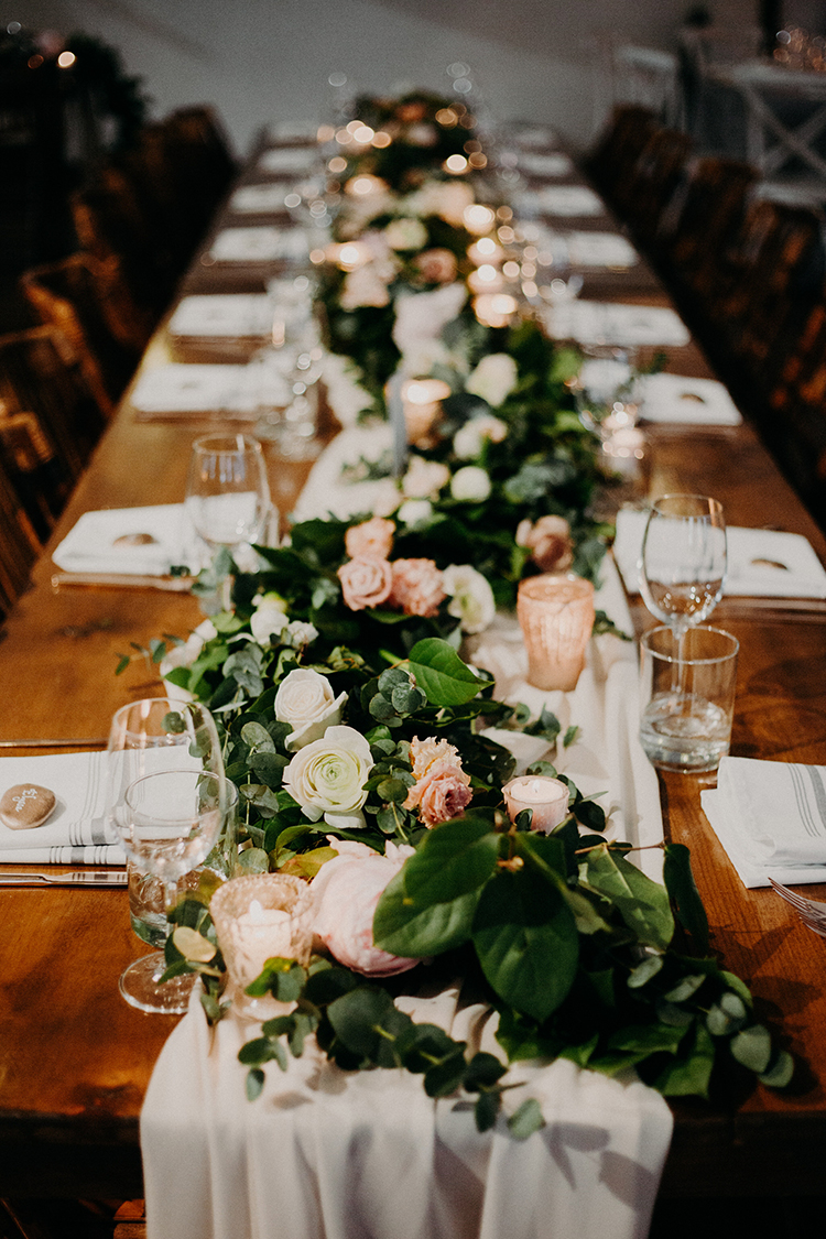 romantic tablescape ideas - photo by Scarlet ONeill http://ruffledblog.com/industrial-space-meets-enchanted-forest-wedding