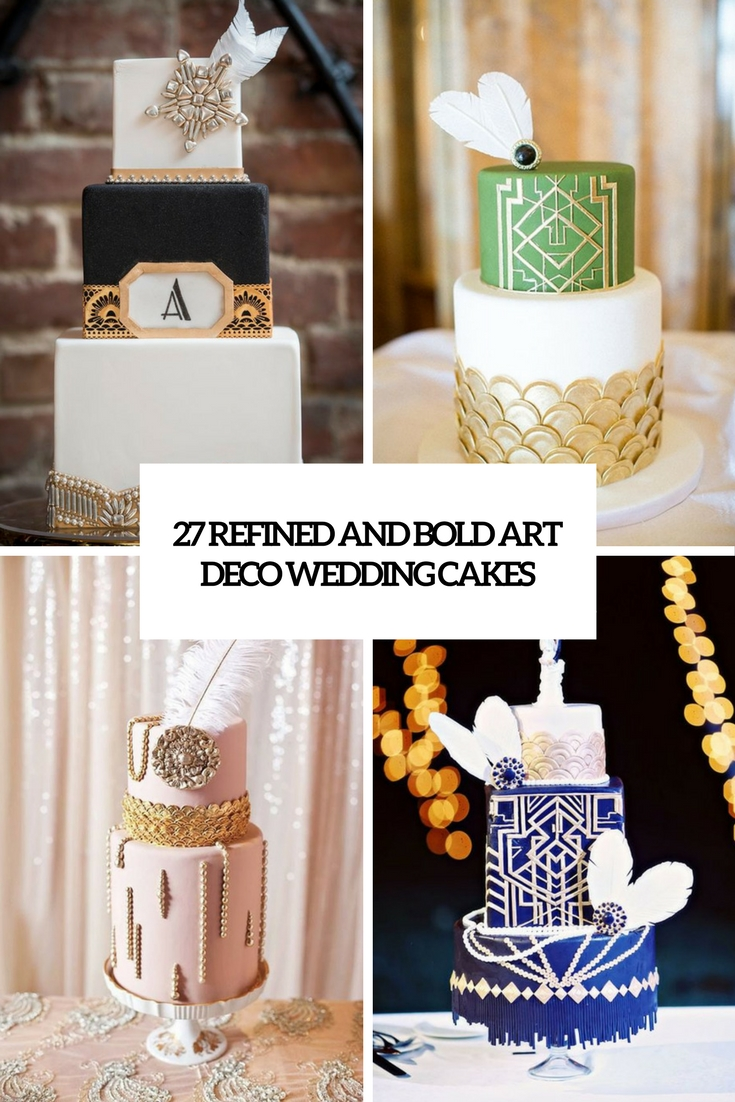 refined and bold art deco wedidng cakes cover