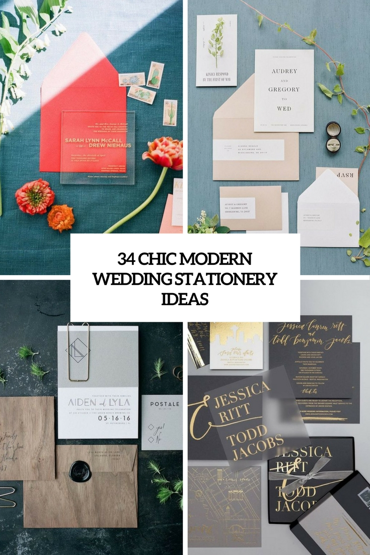 chic modern wedding stationery ideas cover