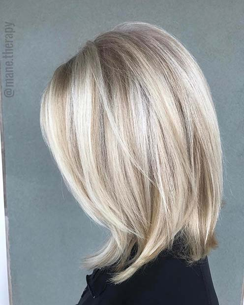 Champagne Blonde Balayage Short Hair