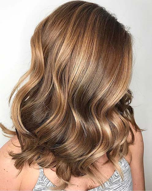 Warm Golden Blonde Balayage Look