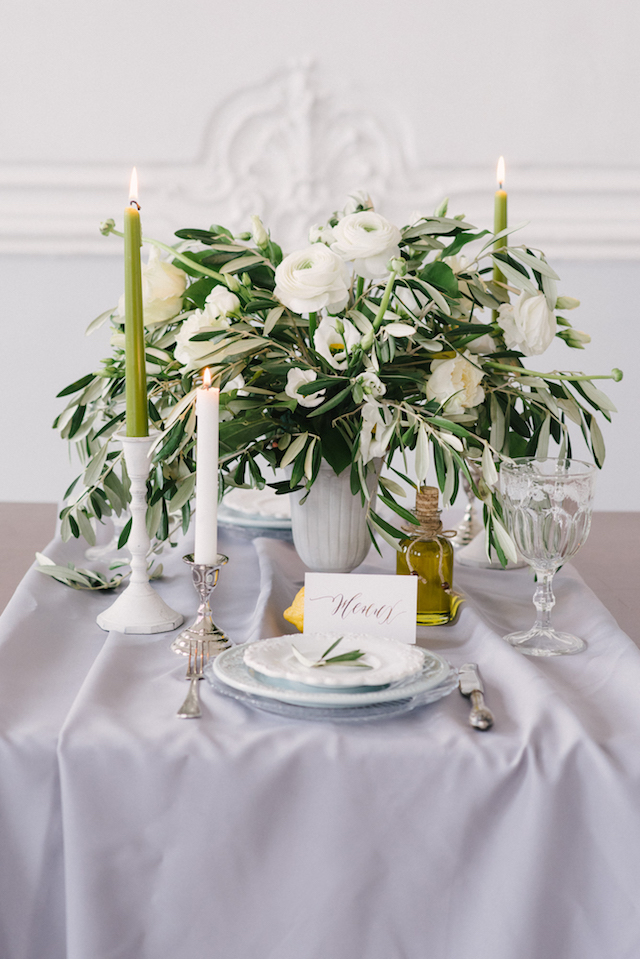 Greece themed tablescape