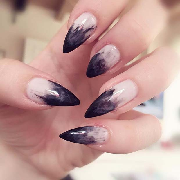 Witch Manicure for Halloween Nail Designs