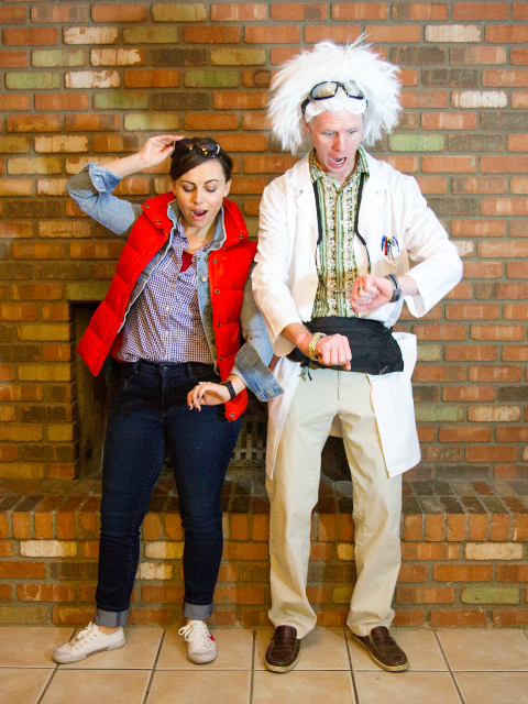 Emmett Brown costume from Back to the Future movie