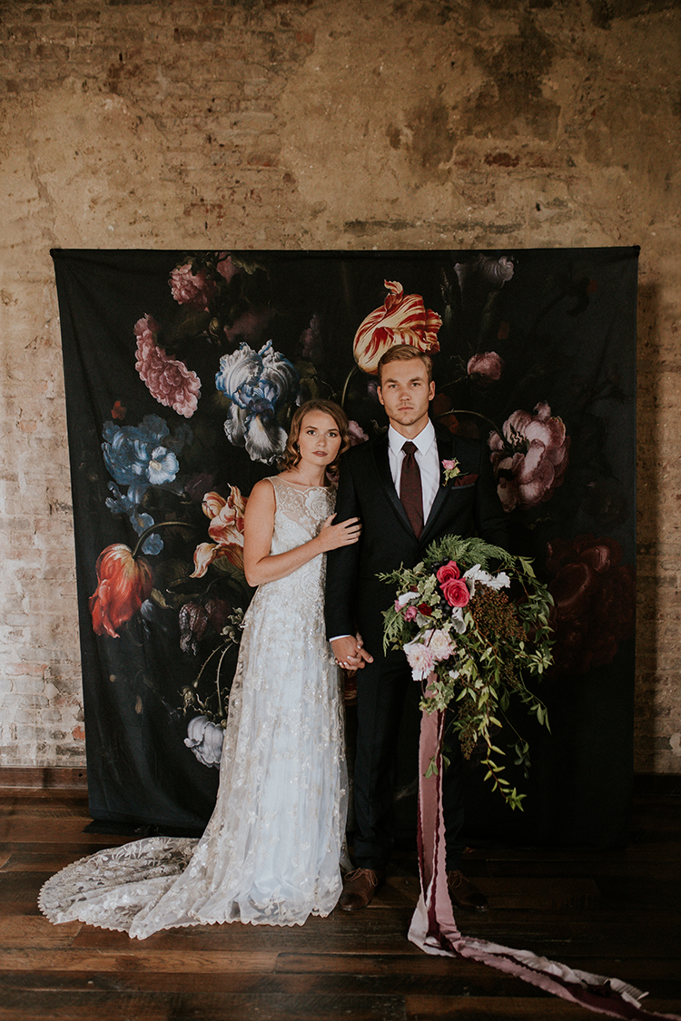 Artist Inspired Wedding Ideas with Oxblood and Navy - http://ruffledblog.com/artist-inspired-wedding-ideas-with-oxblood-and-navy