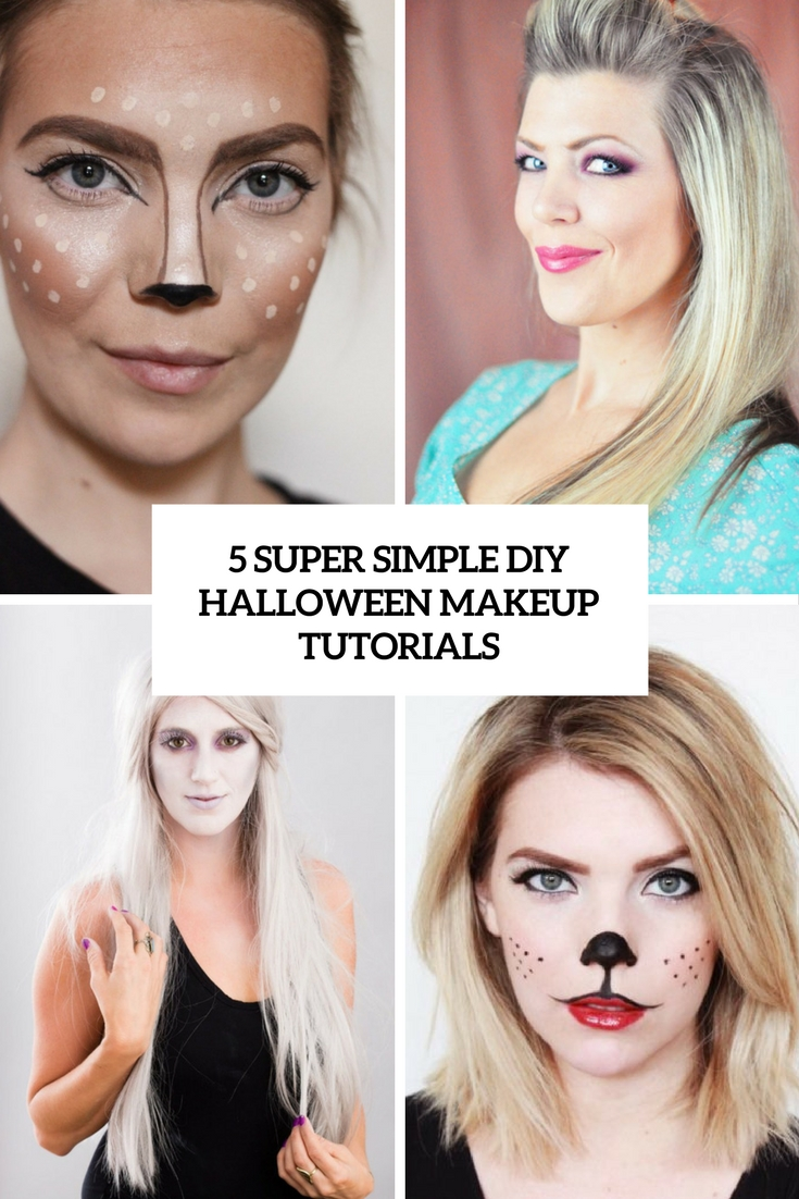 5 super simple diy halloween makeup tutorials cover