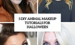 5 diy animal makeup tutorials for halloween cover
