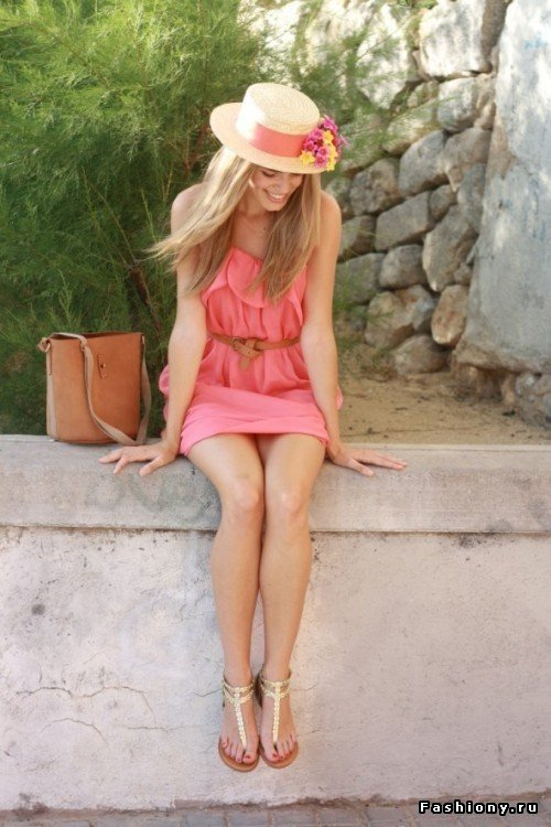 Straw Hat Outfit Ideas (2)