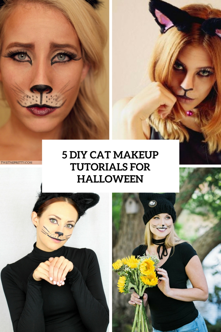 5 diy cat makeup tutorials for halloween cover