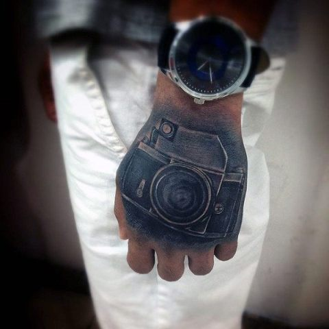 Creative tattoo idea on the hand