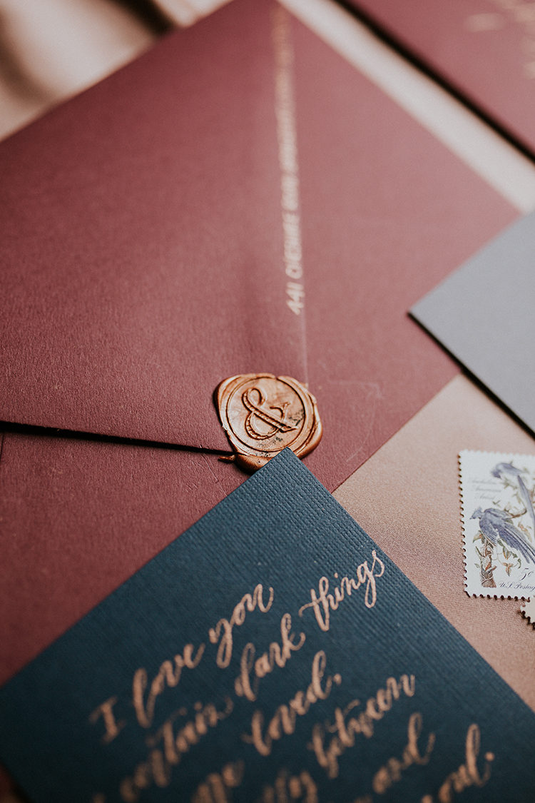 Artist Inspired Wedding Ideas with Oxblood and Navy | Wedding