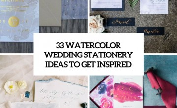 watercolor wedding stationery ideas to get inspired cover