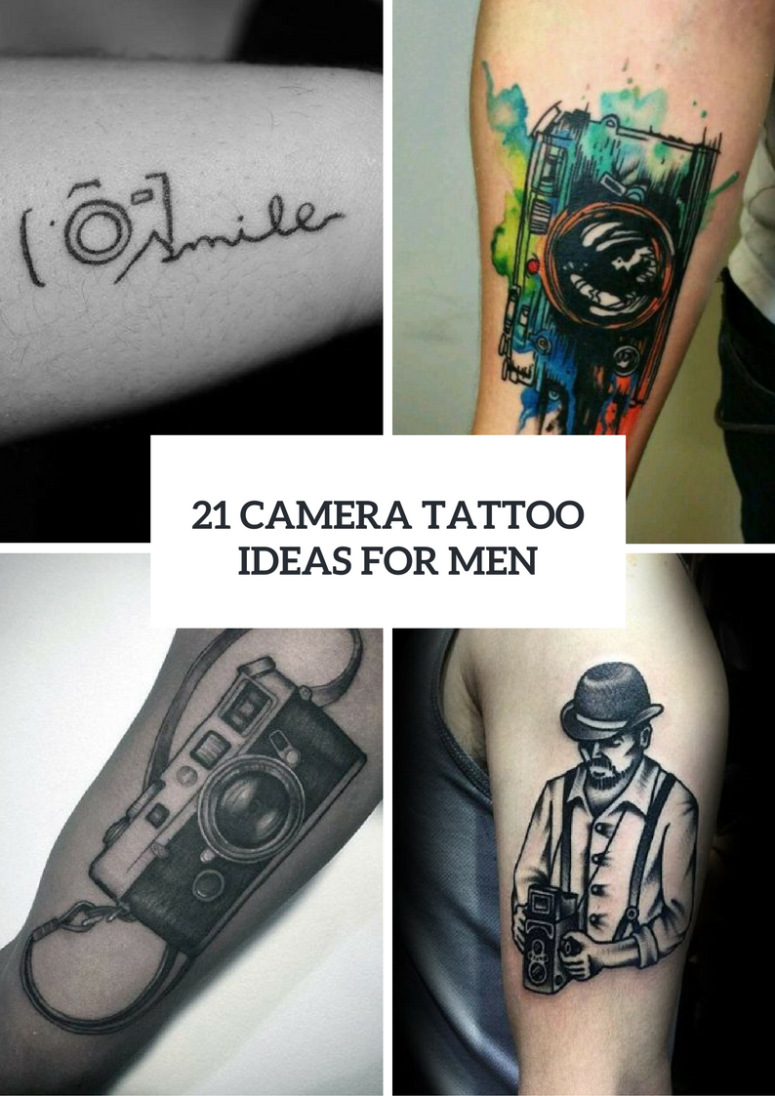 Camera Tattoo Ideas For Men To Repeat