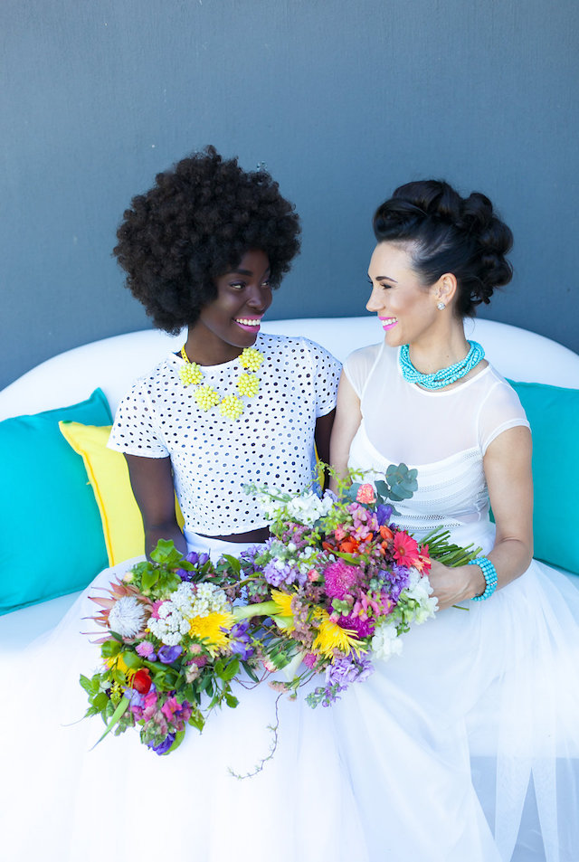 Bright and colorful wedding