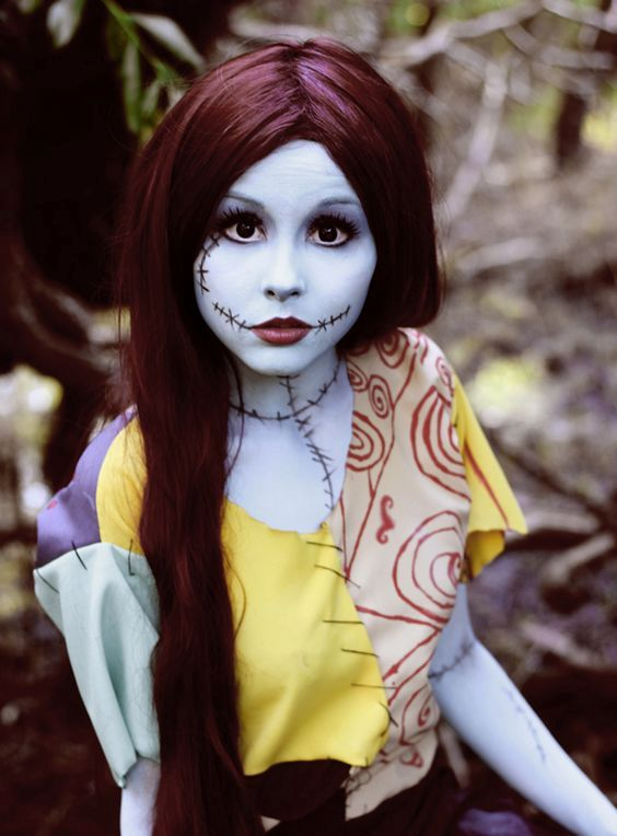 Sally from Nightmare Before Christmas looks bold and cute at the same time