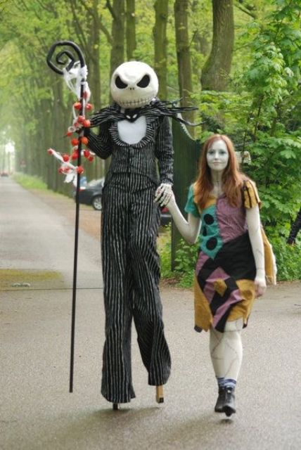 Jack skellington and Sally costumes from Nightmare Before Christmas