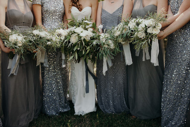 Bridesmaids in sequins