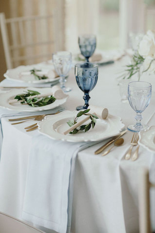 East coast wedding reception colors