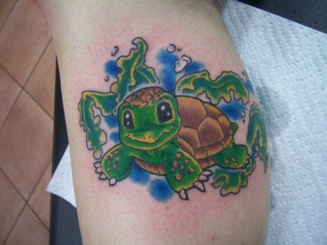 Baby turtle tattoo idea