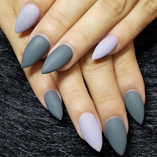 Grey Matte Shades for Matte Nail Designs for Fall
