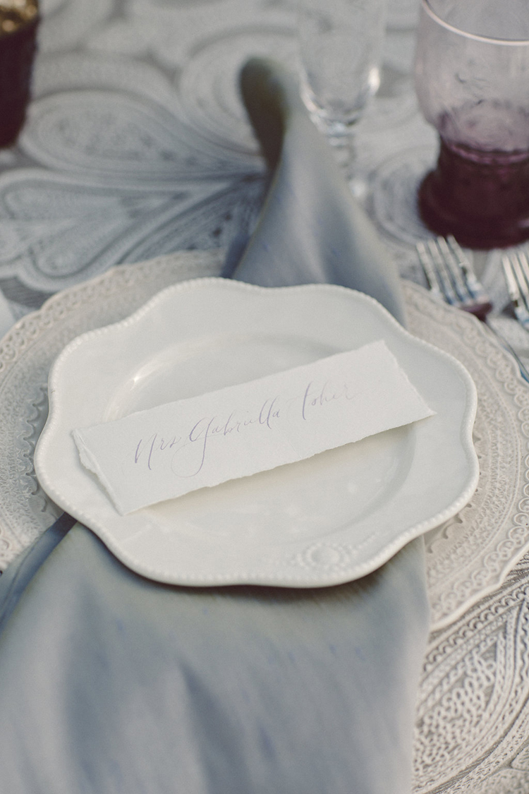 place settings - photo by Lilly Red Creative http://ruffledblog.com/lake-tahoe-beach-wedding-inspiration