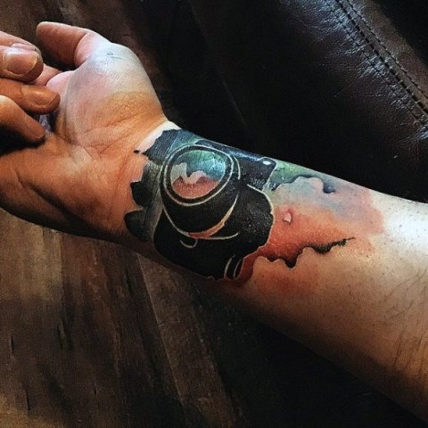Beautiful tattoo on the wrist