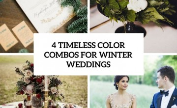 4 timeless color combos for winter weddings cover